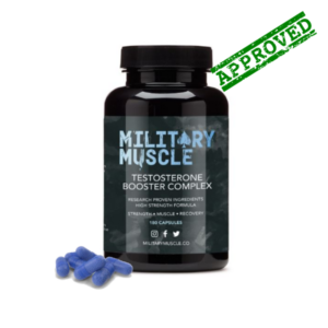 military muscle testosterone booster approved bottle